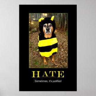 Poster de motivación de la abeja más triste