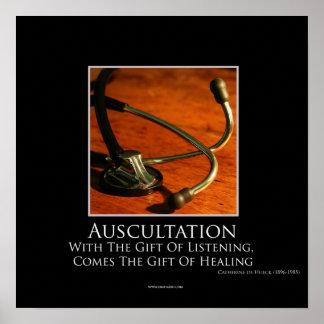 Poster de motivación de la auscultación