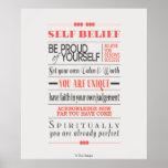 Poster de motivación de la cita de la creencia del