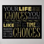 Poster de motivación de la cita de las opciones