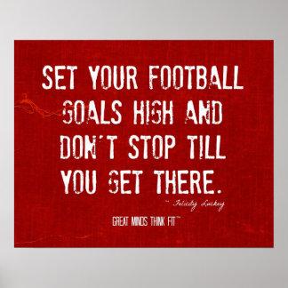 Poster de motivación de la cita del fútbol