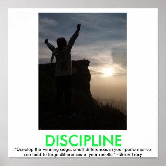 Poster de motivación de la DISCIPLINA