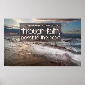 Poster de motivación de la fe
