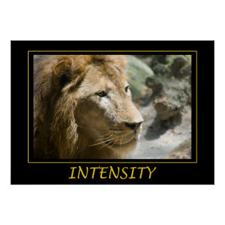 Poster de motivación de la intensidad