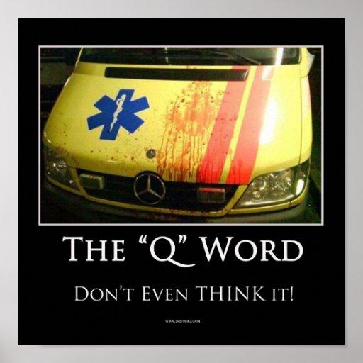 Poster de motivación de la palabra de Q