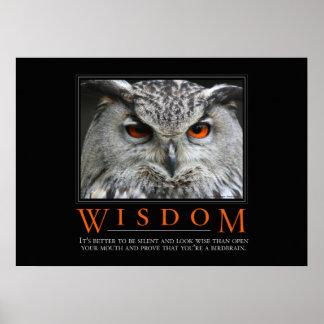 Poster de motivación de la parodia de la sabiduría