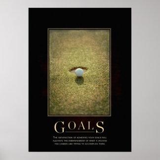 Poster de motivación de la parodia de las metas
