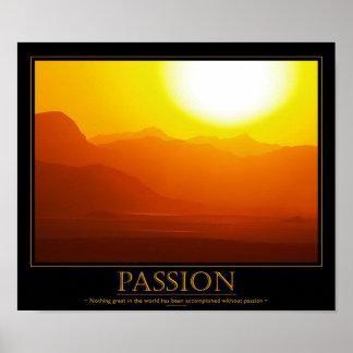 Poster de motivación de la pasión
