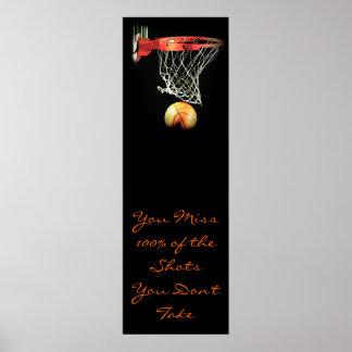 Poster de motivación de la puerta del baloncesto