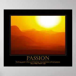 Poster de motivación de la puesta del sol del desi