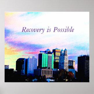 Poster de motivación de la recuperación