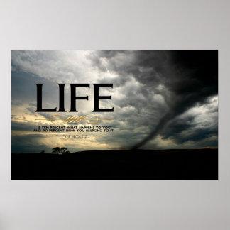 Poster de motivación de la vida