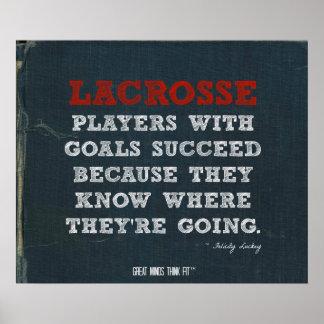 ¡Poster de motivación de LaCrosse para el éxito!