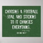 Poster de motivación de las metas del fútbol