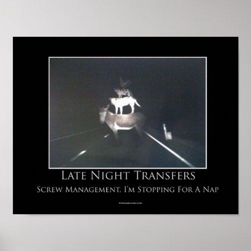 Poster de motivación de las transferencias de últi