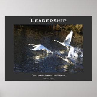 Poster de motivación de los cisnes de trompetista póster