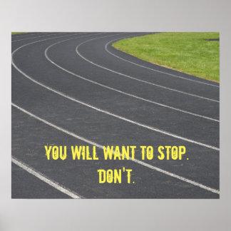 ¡Poster de motivación de los deportes! Perfeccione Póster