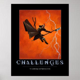 Poster de motivación de los desafíos