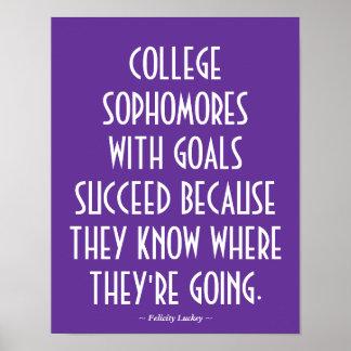 Poster de motivación de los estudiantes de segundo