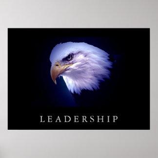 Poster de motivación de los ojos de Eagle de la