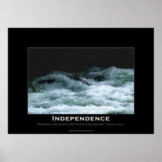 Poster de motivación de los Rapids del río de la I