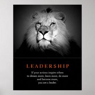 Poster de motivación de moda del león de la póster