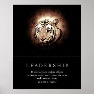 Poster de motivación de moda del tigre de la