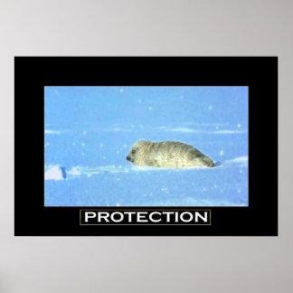 Poster de motivación del arte de la PROTECCIÓN de