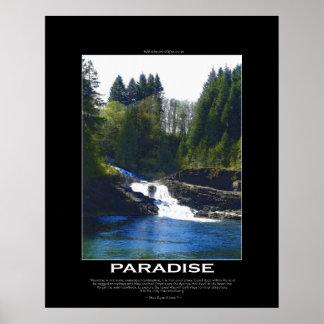 Poster de motivación del arte del PARAÍSO con el p