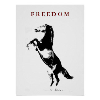 Poster de motivación del arte pop del caballo que