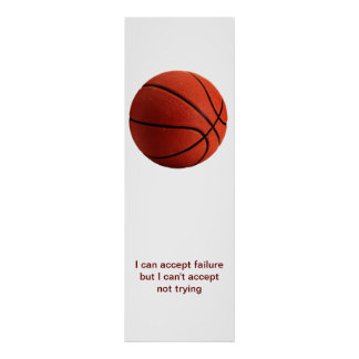 Poster de motivación del baloncesto de la cita del