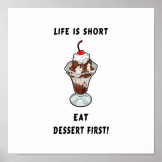 Poster de motivación del chocolate