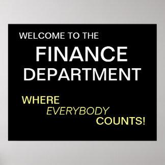 Poster de motivación del departamento de finanzas