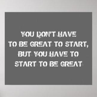 Poster de motivación del entrenamiento