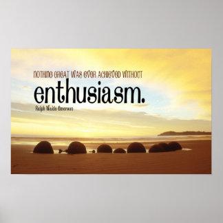 Poster de motivación del entusiasmo