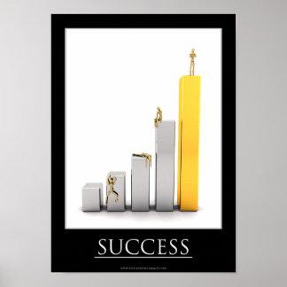 Poster de motivación del éxito