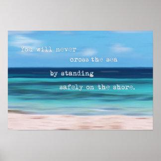Poster de motivación del extracto tropical del mar