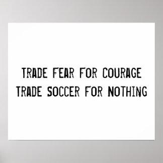 Poster de motivación del fútbol