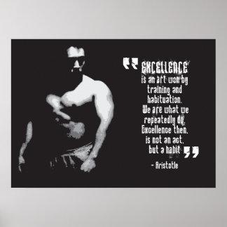 Poster de motivación del gimnasio - cita de
