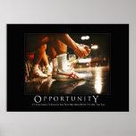 Poster de motivación del humor de la oportunidad