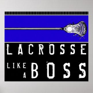 poster de motivación del lacrosse
