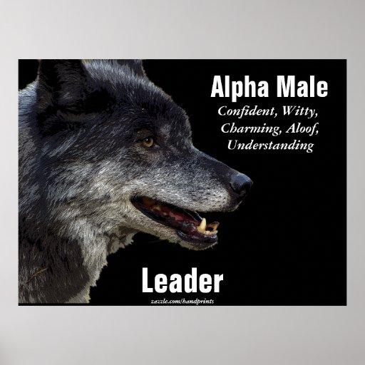 Poster de motivación del lobo gris