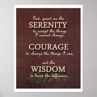 Poster de motivación del rezo de la serenidad - re