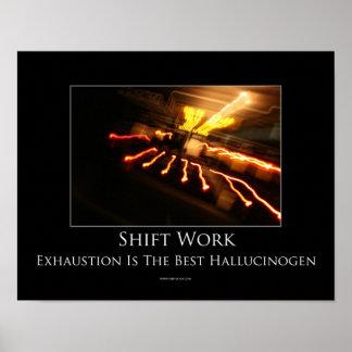 Poster de motivación del trabajo en turnos