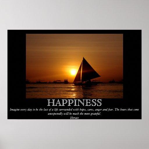 Poster de motivación del velero de la puesta del