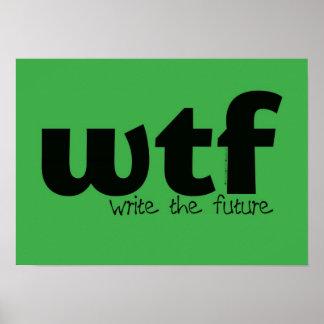 Poster de motivación - escriba el futuro