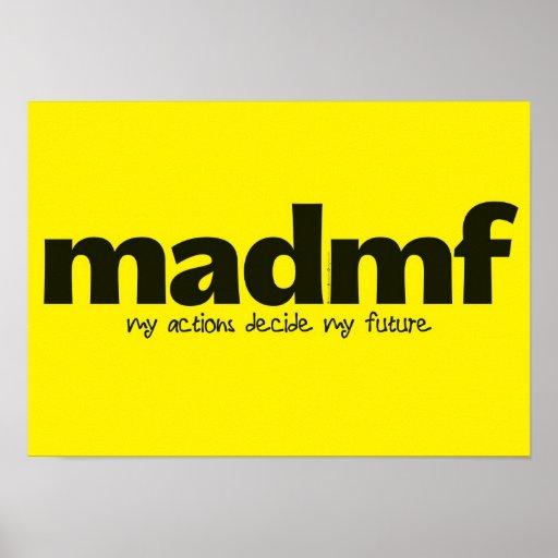Poster de motivación - mis acciones deciden a mi f
