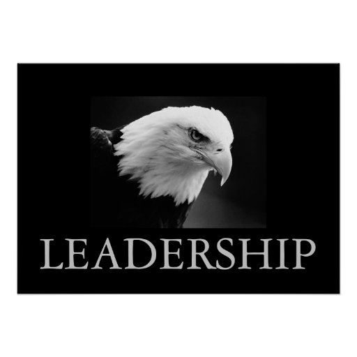 Poster de motivación negro y blanco de Eagle de la