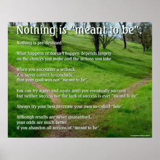 "Poster de motivación: No se significa nada ""ser """