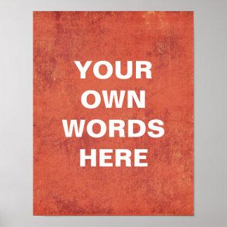 Poster de motivación, sus propias palabras aquí
